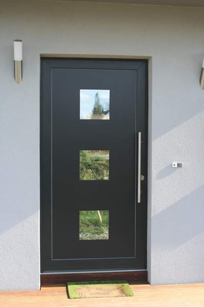 Porte d 39 entree metal denver h215xl90 d magasin de for Porte maison exterieur