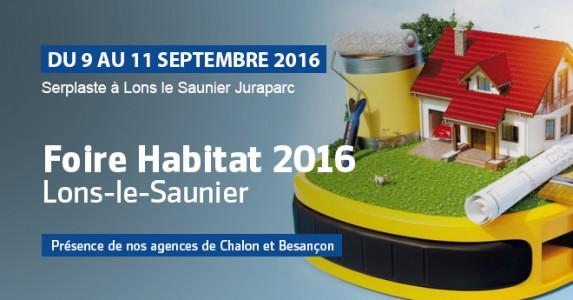 Foire habitat lons le saunier du 9 au 11 septembre 2016 for Lons le saunier code postal